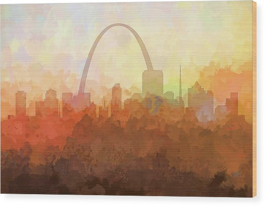 St Louis Missouri Skyline Wood Print