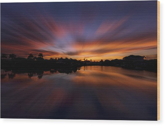 Sunrise At Naples, Florida Wood Print
