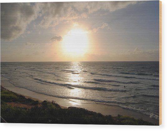 Sunset At Jaffa Beach 10 Wood Print