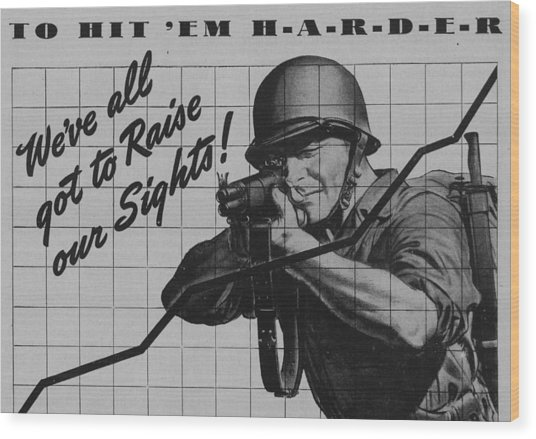 World War II Advertisement Wood Print