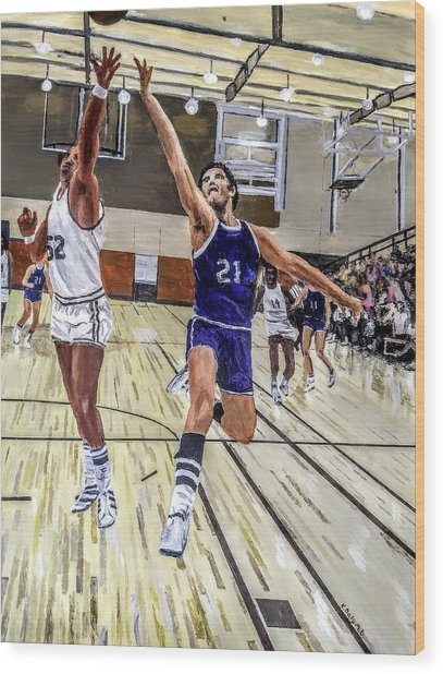 Wood Print featuring the painting 70's Layup by Kevin Daly