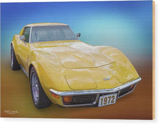 72 Corvette Wood Print