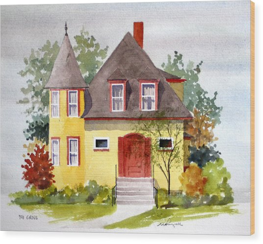 721 Grove Ave Wood Print by William Renzulli