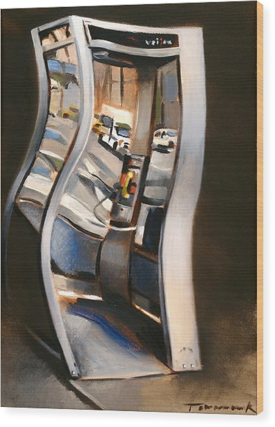 72nd Street Payphone Art Print Wood Print