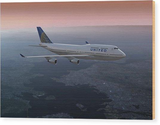 747twilight Wood Print