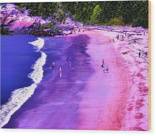 74f Bright Beach Wood Print by Ed Immar