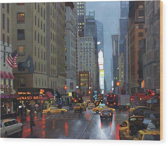 7th Avenue Wood Print