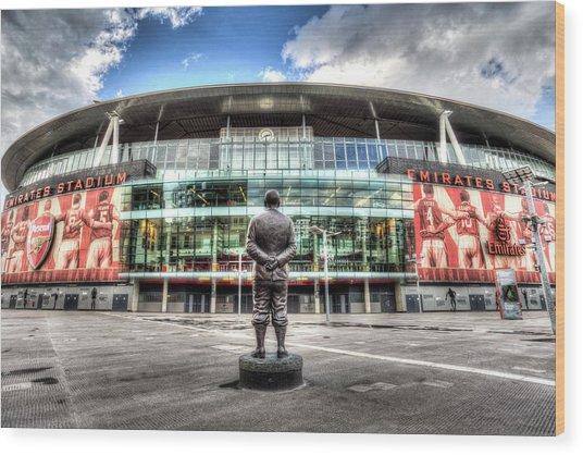 Arsenal Fc Emirates Stadium London Wood Print