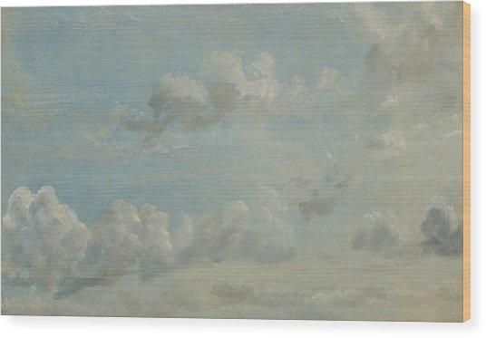 British Title Cloud Study Wood Print