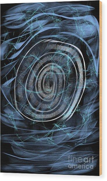 Digital Abstract  Wood Print