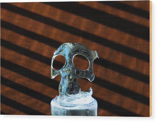 Ice Skullpture Wood Print