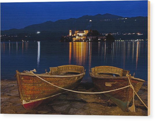 Island Of San Giulio Wood Print