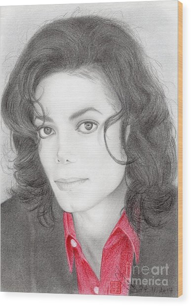 Michael Jackson #two Wood Print