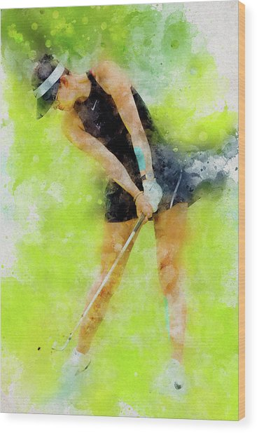 Michelle Wie Wood Print