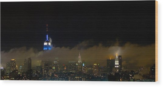 Nyc Buildings Wood Print by Patrick  Flynn