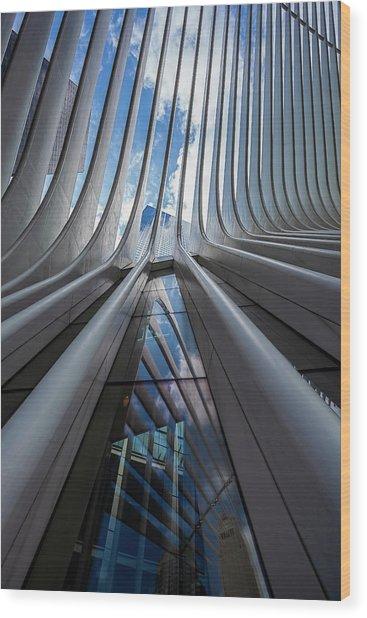 Oculus Center Nyc Wood Print by Robert Ullmann
