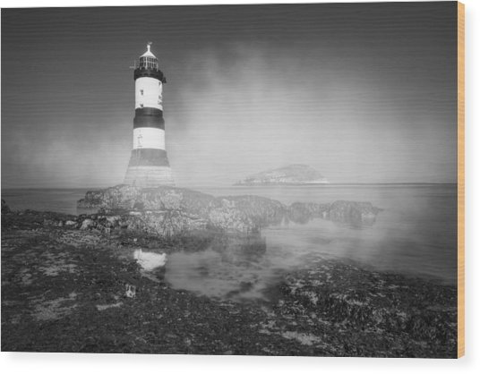 Penmon Lighthouse Wood Print