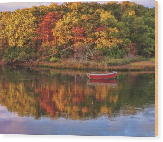 Autumn Reflection  Wood Print by JAMART Photography