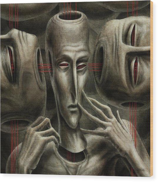80 Wood Print by Farzad Golpayegani