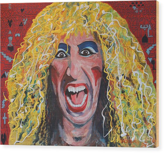 80s Hair Bands Twisted Sister Wood Print