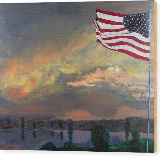 9 11 2001 Wood Print by Stan Hamilton