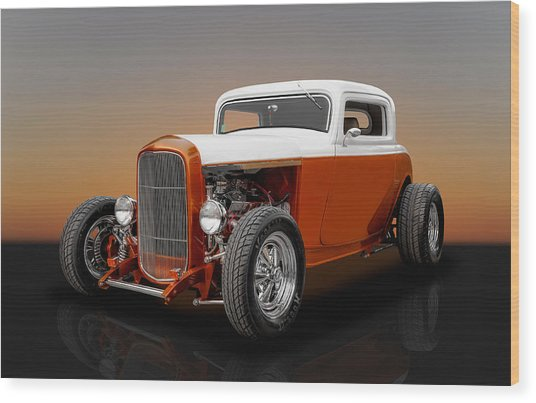 1932 Ford 3 Window Wood Print