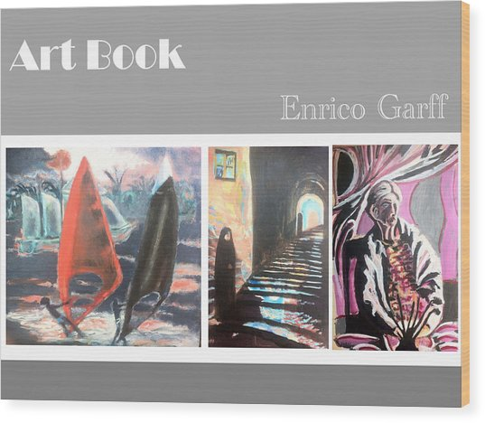 Art Book Wood Print