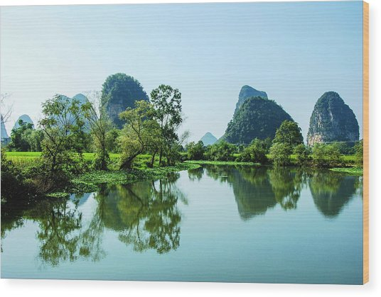 Karst Rural Scenery Wood Print