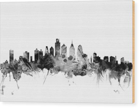 Philadelphia Pennsylvania Skyline Wood Print