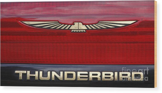 90s Thunderbird Wood Print
