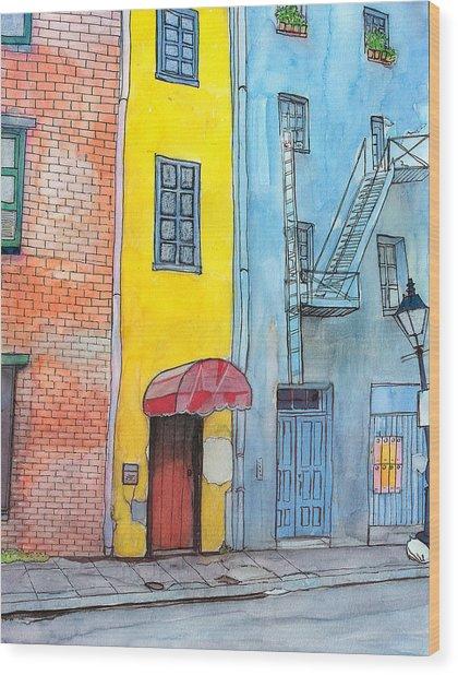 98  French Quarter Back Alley Wood Print by John Boles
