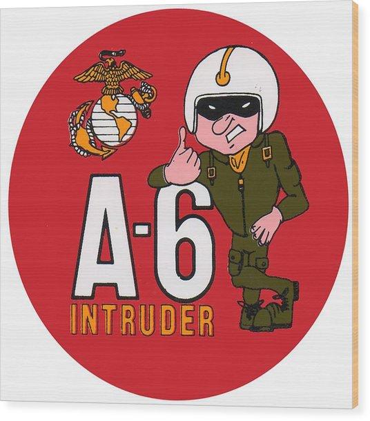 A-6 Intruder Wood Print