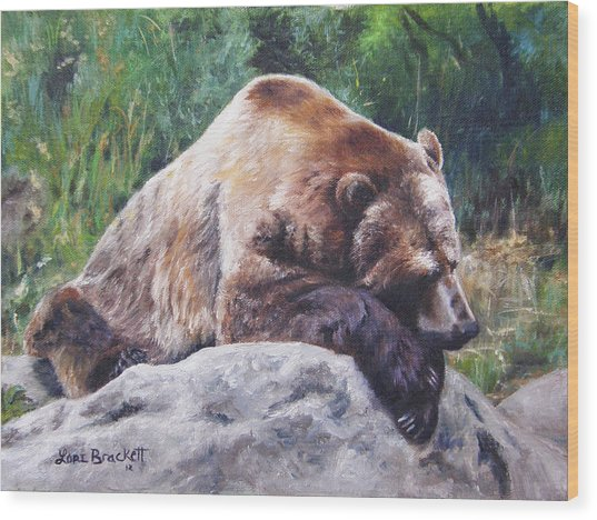 A Bear Of A Prayer Wood Print