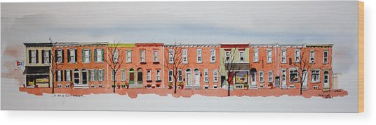 A Bit Of Scott Street  7x30 Wood Print