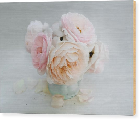 A Bouquet Of June Roses Wood Print