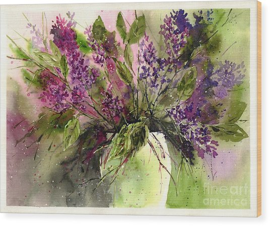 A Bouquet Of May-lilacs Wood Print