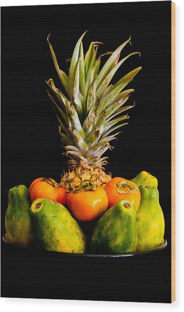 A Bowl Of Hawaiian Fruit Wood Print