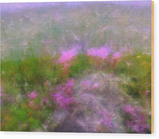 A Breeze In Monet's Garden Wood Print