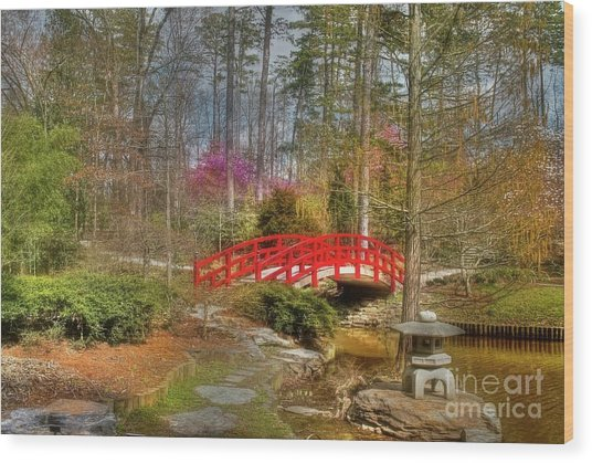 A Bridge To Spring Wood Print