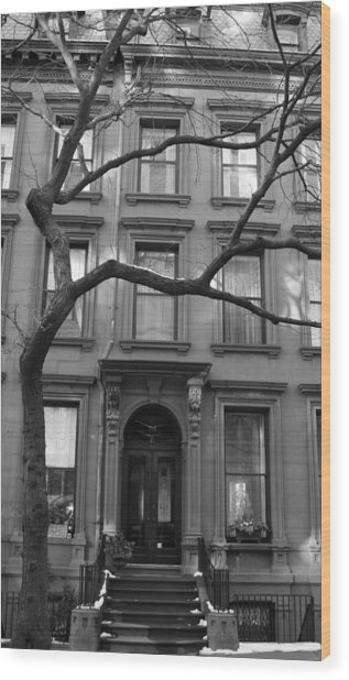 A Brownstone In Brooklyn Wood Print