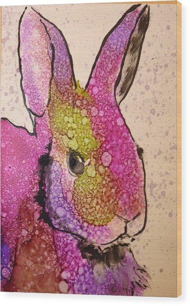 A Bunny Raggitt Wood Print