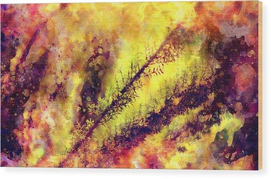 A Burning Bush Wood Print