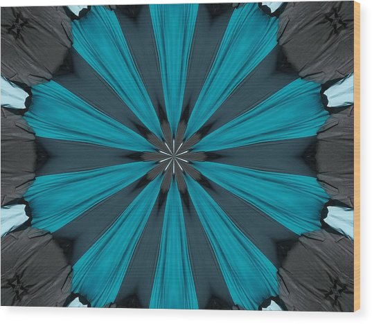 A Burst Of Blue Wood Print