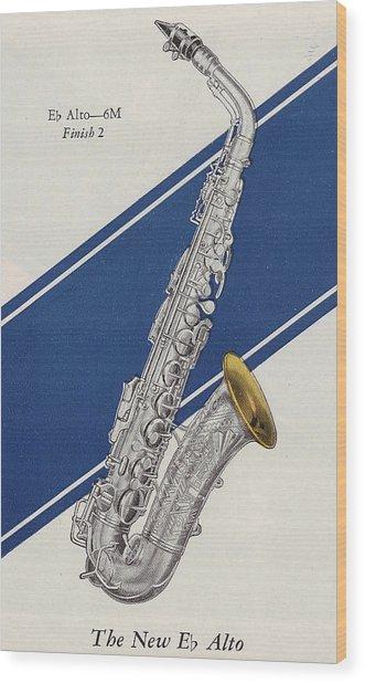 A Charles Gerard Conn Eb Alto Saxophone Wood Print