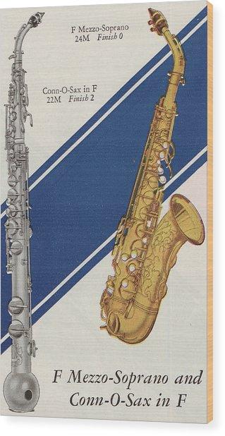 A Charles Gerard Conn F Mezzo-soprano Wood Print