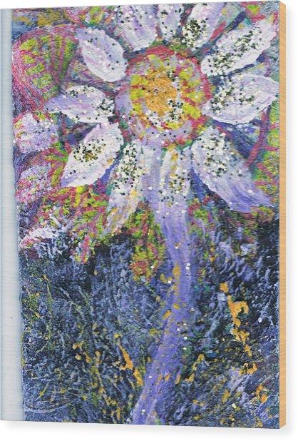 A Child Is Like A Flower Wood Print by Anne-Elizabeth Whiteway