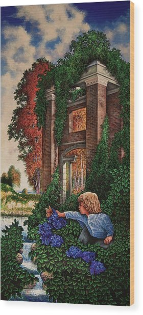 A Child's Wonder Wood Print