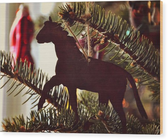 A Christmas Trot Wood Print by JAMART Photography