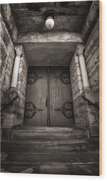 A Church Door Wood Print