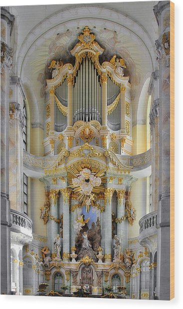 A Church Filled With Music - Church Of Our Lady Dresden Wood Print